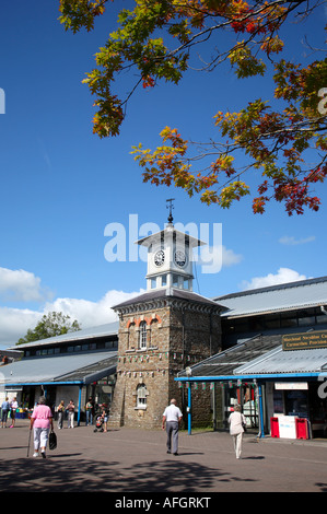 Carmarthen Market in Wales, UK. - Stock Photo