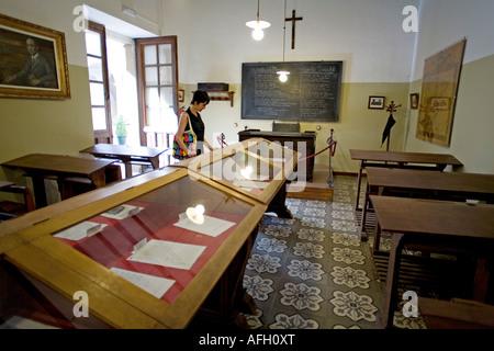 classroom of antonio machado old university baeza patrimony of the humanity jaen Andalusia Spain - Stock Photo