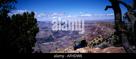 Grand Canyon From The Watchtower - Stock Photo