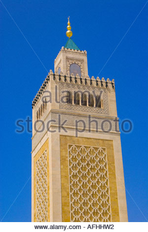 Mosque of the Zitouna Aghlabid Ez Zitouna Mosque Tunis Tunisia - Stock Photo