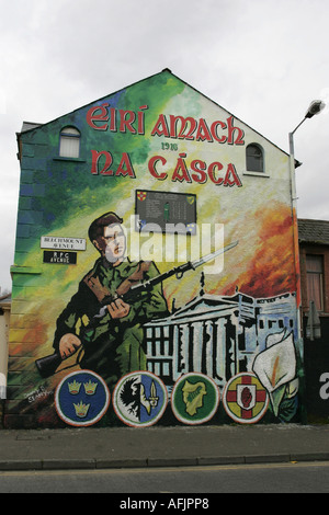 Republican easter rising mural beechmount avenue and for Dublin wall mural