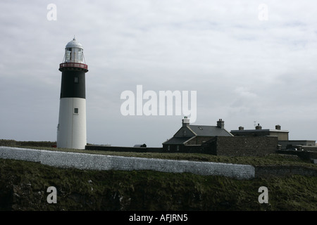 The East Light lighthouse and buildings Altacarry Altacorry head Rathlin Island - Stock Photo
