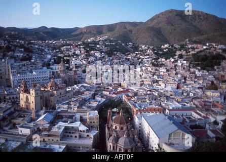 Mexico Guanajuato city view from El Pipila overlook Mex - Stock Photo