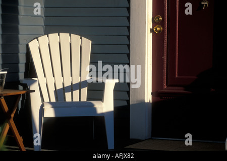 ... USA Washington Seattle Detail Of White Adirondack Chair On Porch Of  Home In Queen Anne Neighborhood