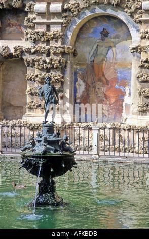 Moorish Reales Alcazares Seville Spain - Stock Photo