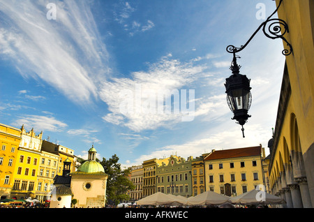 Maginificent old town and sukiennice in Krakow, Poland, Europe. - Stock Photo