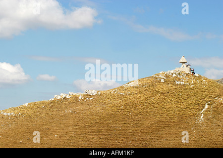 Glorious colour of Sasso Tetto  mountain in the Sibillini National Park,Le Marche Italy - Stock Photo