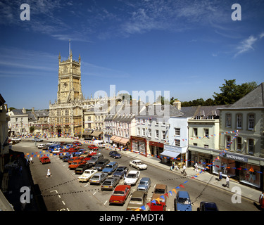 GB - GLOUCESTERSHIRE:  The historic Market Square in Cirencester - Stock Photo