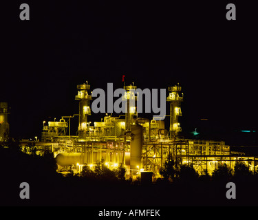 Oil and Gas plant California USA - Stock Photo