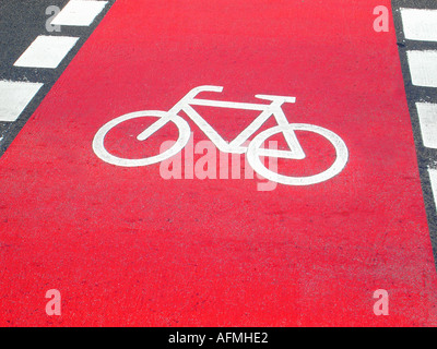 Track for bicycles Fahrradweg - Stock Photo