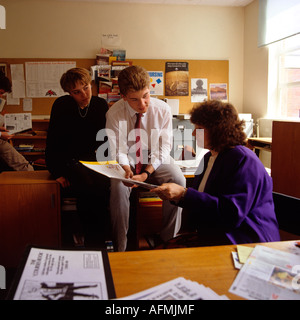 Education Careers Advice in school office - Stock Photo