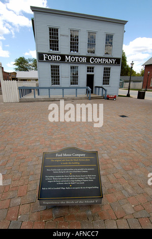First Ford automobile assembly plant at Historic Greenfield Village and Henry Ford Museum located at Dearborn Michigan - Stock Photo