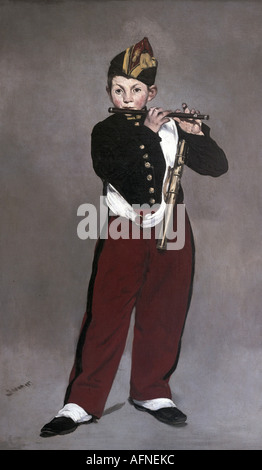 'fine arts, Manet, Edouard, (1832 - 1883), painting, 'The Fifer', ('Le Fifre'), 1866, oil on canvas, Musee d'Orsay, - Stock Photo