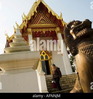 Wat Buddhapadipa Thai Buddhist temple in Wimbledon London - Stock Photo