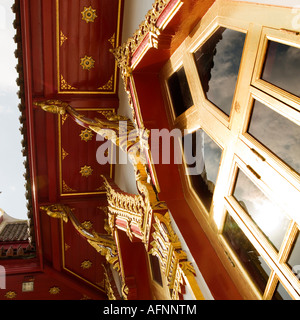 Wat Buddhapadipa Thai Buddhist temple in Wimbledon London - Stock Photo