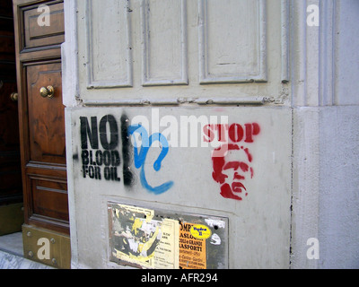 anti war graffiti italy rome - Stock Photo