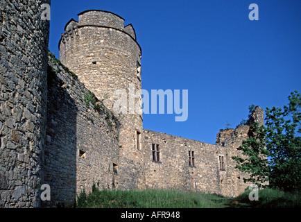 The Château de Roussillon near Cahors - Stock Photo