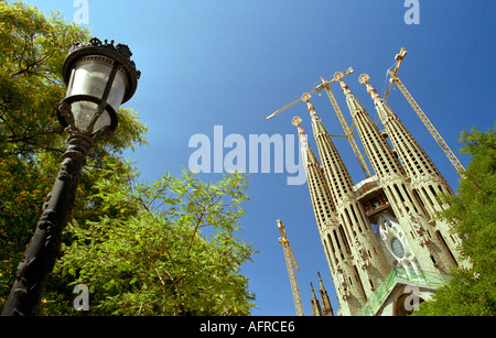 Gaudi s famous cathedral La Sagrada Familia in Barcelona Spain - Stock Photo