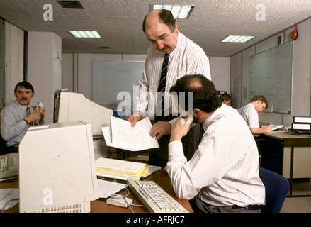 Civil servants office workers office in London circa 1985  HOMER SYKES - Stock Photo