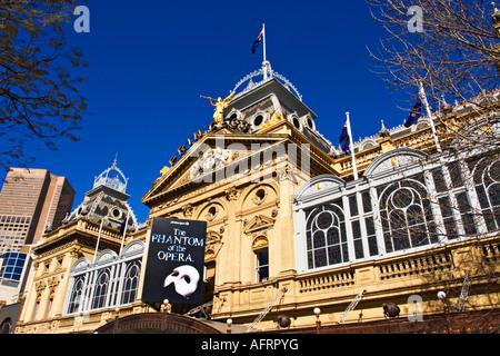 Melbourne Architecture / Facade detail of the Princess Theatre in Melbourne Victoria  Australia. - Stock Photo