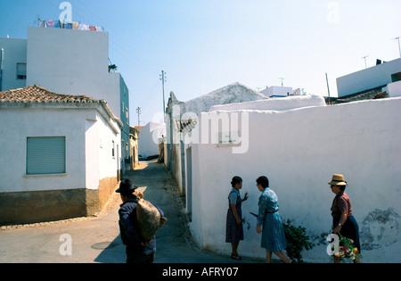 STREET SCENE IN ALVOR ALGARVE  PORTUGAL 1981 - Stock Photo