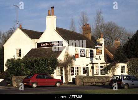 TILFORD SURREY England UK January The very popular Barley Mow Pub as seen from the village green - Stock Photo