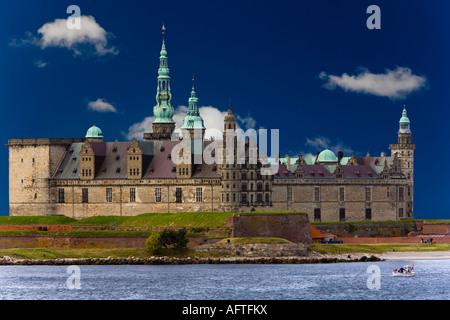Kronborg Castle in Elsinore - Stock Photo