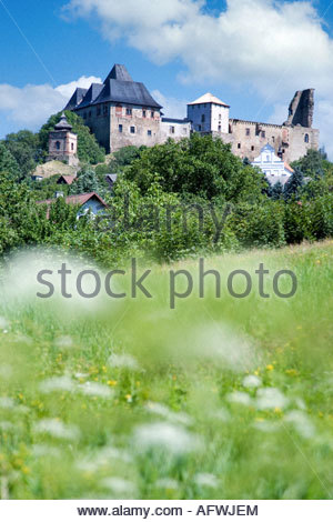 goticky hrad z 14. stol., Lipnice nad Sazavou, Kraj Vysocina, - Stock Photo