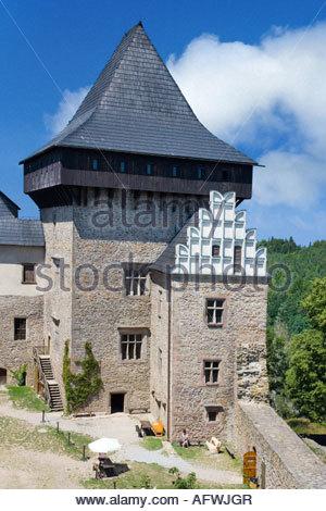 goticky hrad z 14. stol., Lipnice nad Sazavou, Kraj Vysocina, Ceska republika - Stock Photo