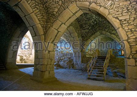 Thurnovsky palac, goticky hrad, Lipnice nad Sazavou, Kraj Vysocina, Ceska republika - Stock Photo