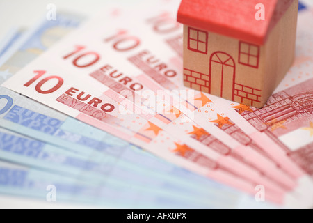 Investing buying property or houses overseas abroad with euros - Stock Photo