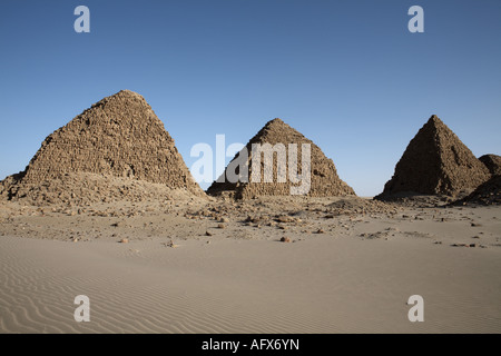 The royal cemetery of Nuri, Karima, Sudan - Stock Photo