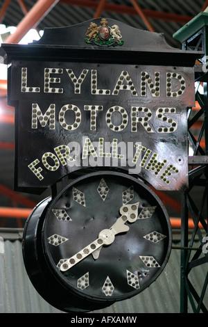 Leyland Motors sign, Beaulieu in Hampshire - Stock Photo