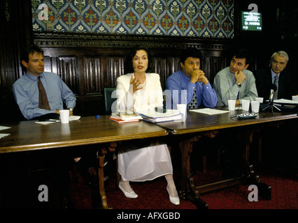 colour portrait of 'Bianca Jagger' human rights activist talk 'House of Common'  circa 1995 - Stock Photo