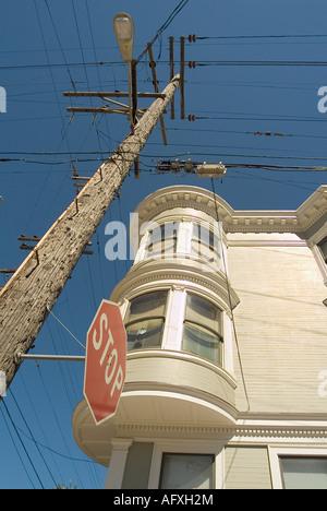 Victorian Style house. Russian Hill area. San Francisco. California. USA - Stock Photo