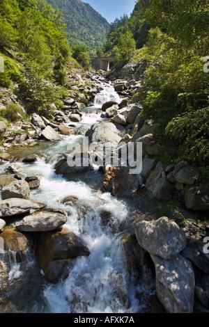 River Guerche in the Parc National du Mercantour, Alpes Maritimes, Provence, France - Stock Photo