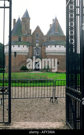 Chateau de Rambures Picardie France - Stock Photo