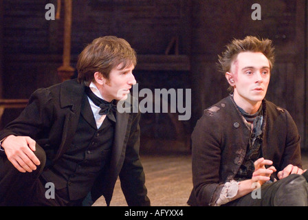 Scene from the play The Life and Times of Nicholas Nickleby by Charles Dickens Chichester Festival Theatre, UK. - Stock Photo