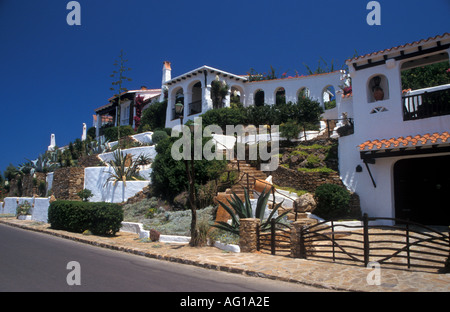 Villas at Platges de Fornells Menorca - Stock Photo