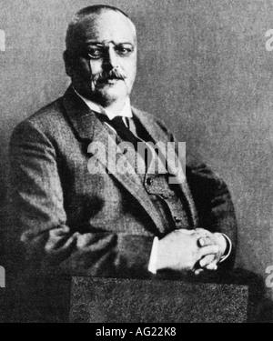 Alzheimer, Alois, 14.6.1864 - 19.2.1915, German Psychiatrist and Neuropathologist, half length, circa 1914, Aloysius, - Stock Photo