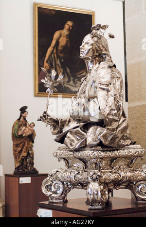 Statue in Interior Museum of Cathedral of Seville in Andalusia Spain - Stock Photo