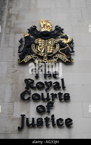 Royal Courts of Justice in London - Stock Photo