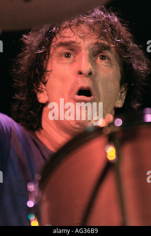 Corky Laing Canadian drummer with the legendary American rock band Mountain - Stock Photo
