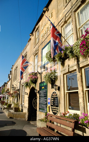 THE WHITE HART Stow on the Wold Gloucestershire England UK - Stock Photo