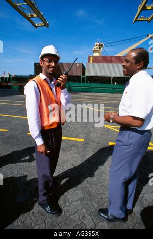 Dubai UAE Jebel Ali Free Trade Zone Expat Asian Worker - Stock Photo
