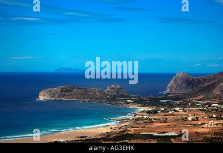 FALASARNA CRETE Greece - Stock Photo