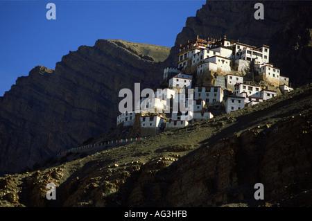 Key Gompa 4116 m Spiti Valley Himachal Pradesh northern India - Stock Photo
