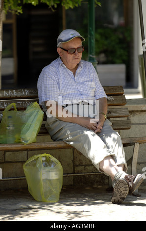 male man pensioner English on holiday vacation rest - Stock Photo