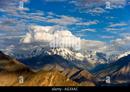 Spectacular mountain scenery of Hunza in Northern Pakistan - Stock Photo