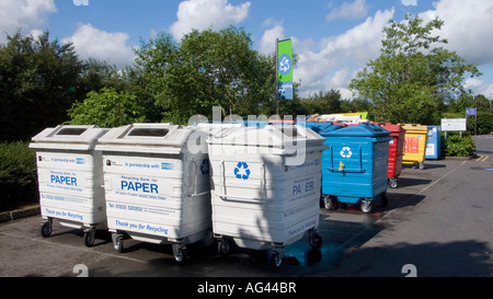 Supermarket recycling point 1 - Stock Photo